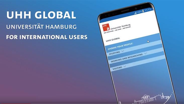 UHH global is the the English-language app of the Universität Hamburg