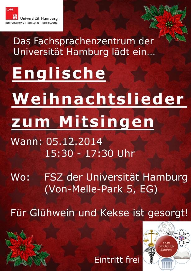 Bekannte Weihnachtslieder Englisch.Christmas Caroling Veranstaltungen Universität Hamburg