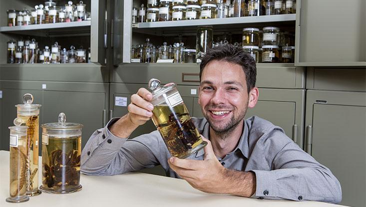 Spinnenforscher Danilo Harms