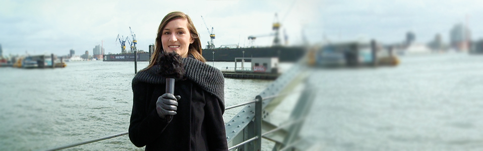 Scenic view of Hamburg's harbor with Franziska